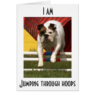 I AM JUMPING THR0UGH HOOPS TO WISH HAPPY BIRTHDAY CARD