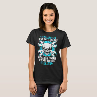 I Am Just A Girl Who Fell In Love Mechanic T-Shirt