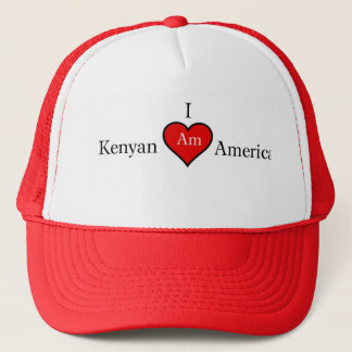 I AM KENYAN AMERICAN TRUCKER HAT
