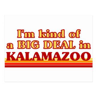 I am kind of a BIG DEAL in Kalamazoo Postcard