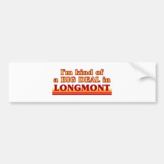 I am kind of a BIG DEAL in Longmont Bumper Sticker