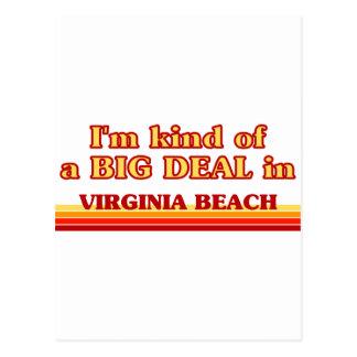 I am kind of a BIG DEAL in Virginia Beach Postcard