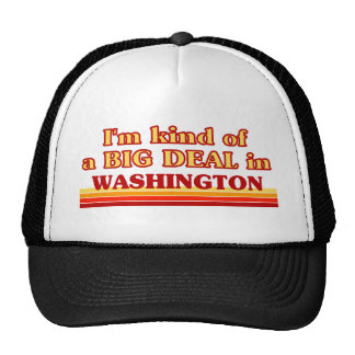 I am kind of a BIG DEAL in Washington Trucker Hat
