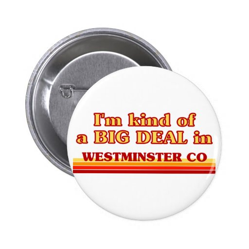 I am kind of a BIG DEAL in Westminster Pin