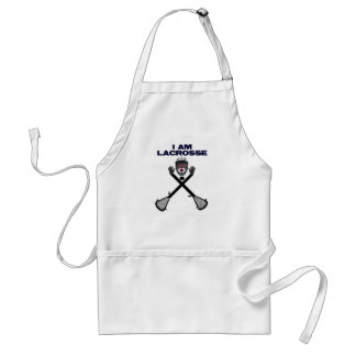 I am Lacrosse Cartoon Standard Apron