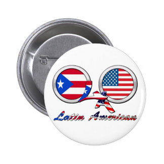 I Am Latin American Boricua 6 Cm Round Badge