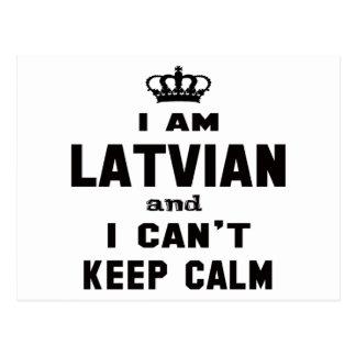 I am Latvian and i can't keep calm Postcard