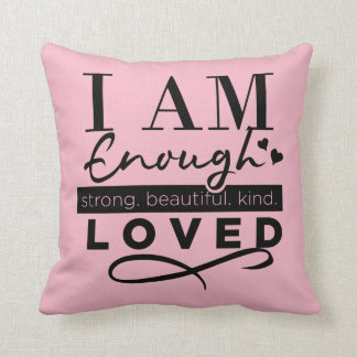 I Am Loved Custom Reversible Pillow With Hearts