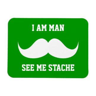 I am man see me stach moustache moustache funny vinyl magnet