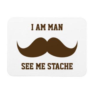 I am man see me stach mustache moustache funny vinyl magnet