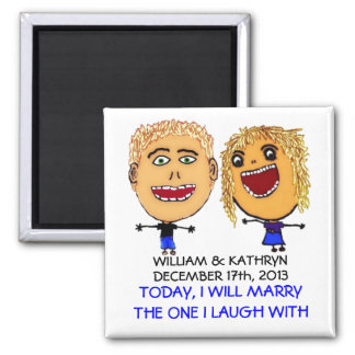 I am Marrying My Best Friend Cartoon Magnet