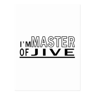 I Am Master Of Jive Dance Postcard