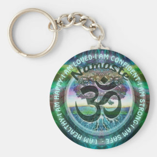 I Am - Motivational Inspiration Namaste Symbol Key Ring