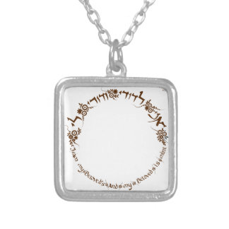 I am my beloved and my beloved is mine silver plated necklace