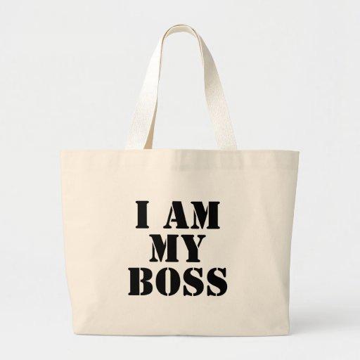 I am My Boss. Slogan. Canvas Bags