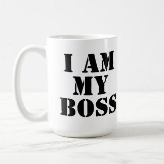 I am My Boss. Slogan. Basic White Mug