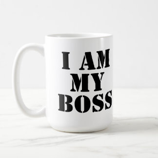I am My Boss. Slogan. Coffee Mug