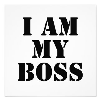 I am My Boss. Slogan. Invitations
