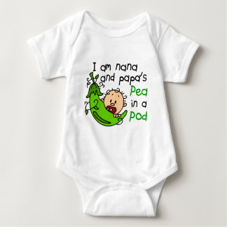 I Am Nana And Papa's Pea In A Pod Baby Bodysuit