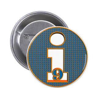 I Am Nine 9th Birthday Gifts Pinback Button