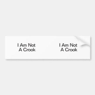 I Am Not A Crook Bumper Sticker