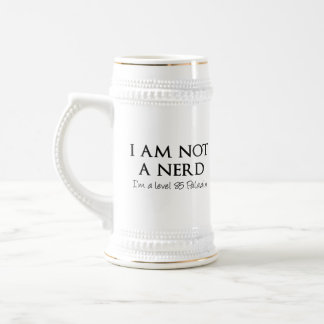I am not a nerd, I'm a level 85 Paladin 18 Oz Beer Stein