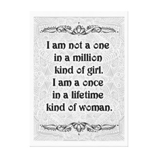 I am not a one - Positive Quote´s Canvas Print