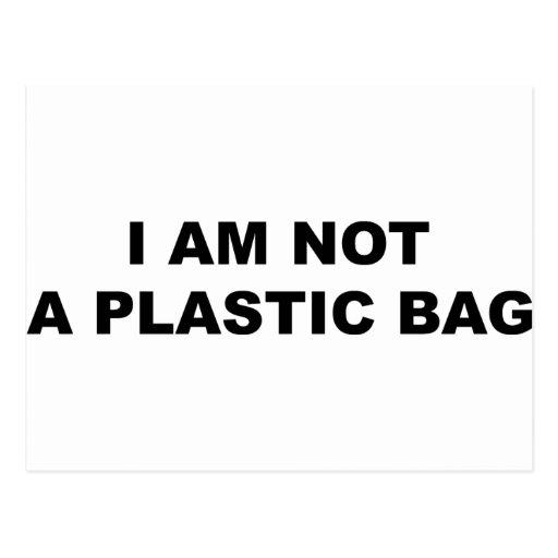 I Am Not A Plastic Bag Postcard