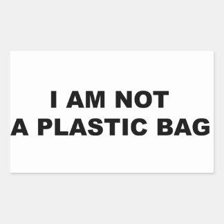 I Am Not A Plastic Bag Stickers