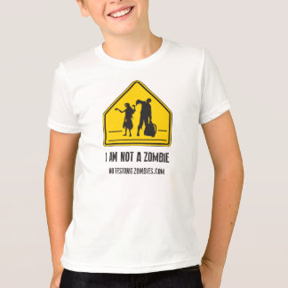 I Am Not A Zombie - Child's Ringer Tee