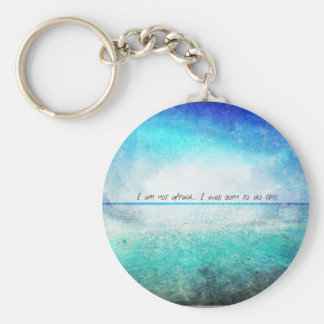 I am not afraid. I was born to do this JOAN OF ARC Basic Round Button Key Ring