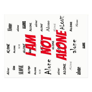 I Am Not Alone Postcard