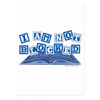 I am not blocked postcard