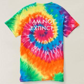 """""""I AM NOT EXTINCT"""" WHITE DINOSAUR TYE-DYE T-SHIRT"""