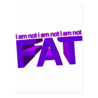 I am not fat! postcard