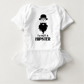 I am not Hipster Baby Bodysuit