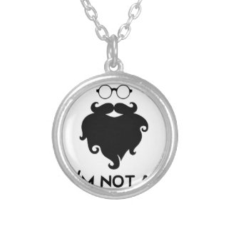 I am not Hipster Silver Plated Necklace