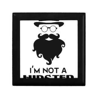 I am not Hipster Small Square Gift Box