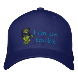 I am not trouble embroidered cap