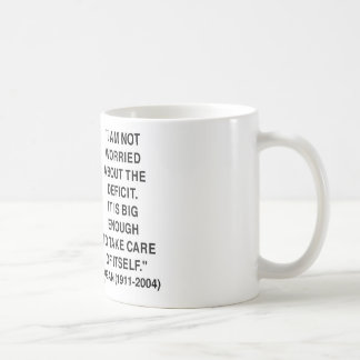 I Am Not Worried About The Deficit (Reagan) Quote Mug