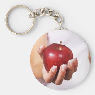 I am on diet basic round button key ring