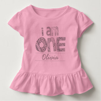 """I Am One"" Ruffle Tee"