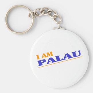I am Palau Basic Round Button Key Ring