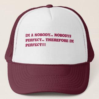 i am perfect trucker hat