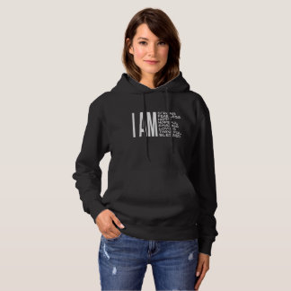 I AM Positive Message Good Vibes Hoodie
