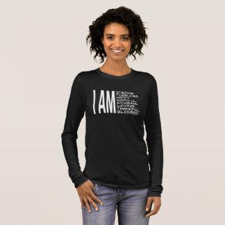 I AM Positive Message Good Vibes Long Sleeve T-Shirt
