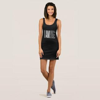 I AM Positive Message Good Vibes Sleeveless Dress