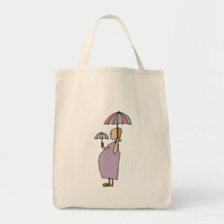 I Am Pregnant Gift Grocery Tote Bag