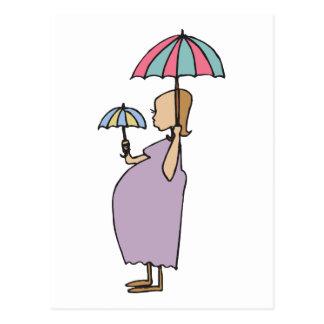 I Am Pregnant Gift Postcard