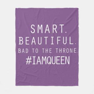 I Am Queen Custom Fleece Blanket (Medium)